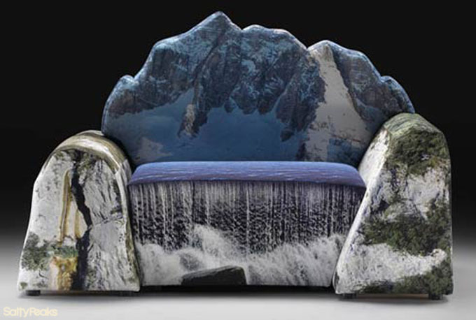Weird couches sofas salty peaks for Unusual furniture ideas
