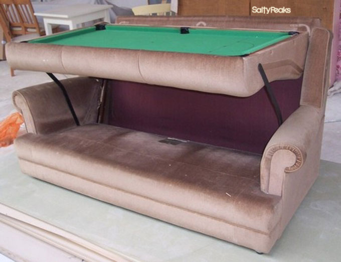 Weird couches sofas salty peaks Couches that turn into bunk beds for sale