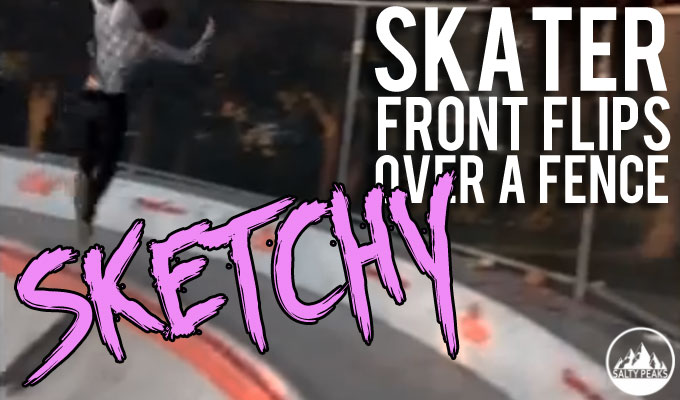 Skater Flips Over Fence Video