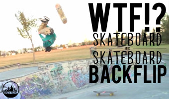 Amazing Skateboard to Skateboard Backflip Video