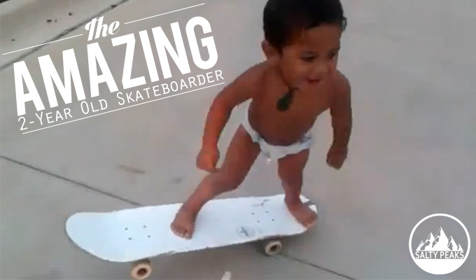 Amazing Skateboarder Two Years Old