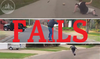 Longboard Fails Video