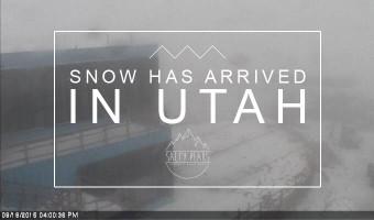 Snowing in Utah 2016 Winter