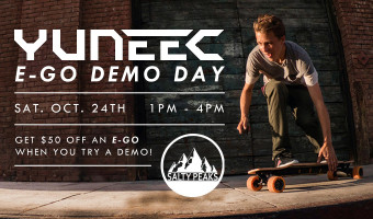 E-Go Electric Skateboard Demo at Salty Peaks
