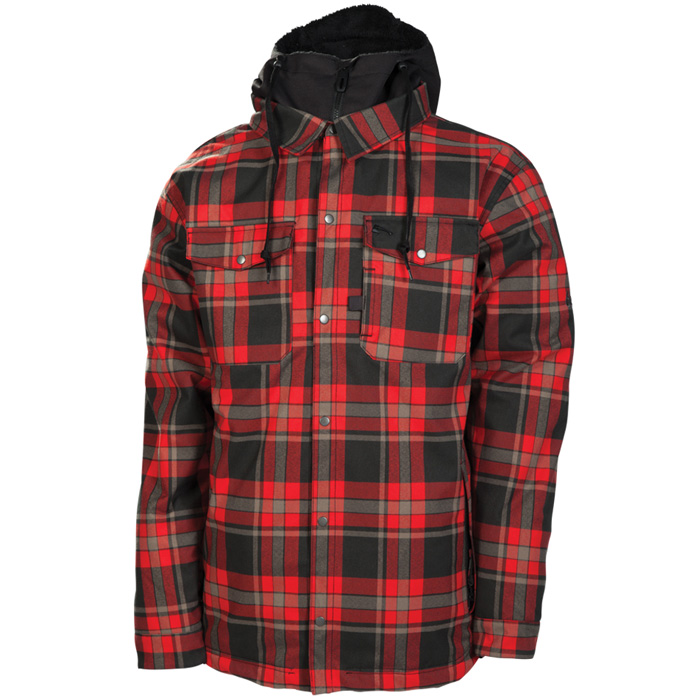 686 Reserved Axxe Flannel Snowboard Jacket At Salty Peaks