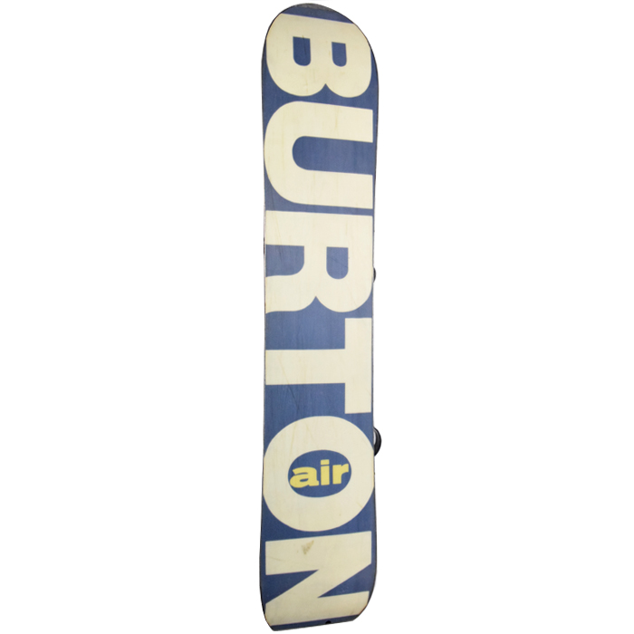 Burton 1990 Vintage Mystery Air Snowboard With Bindings At