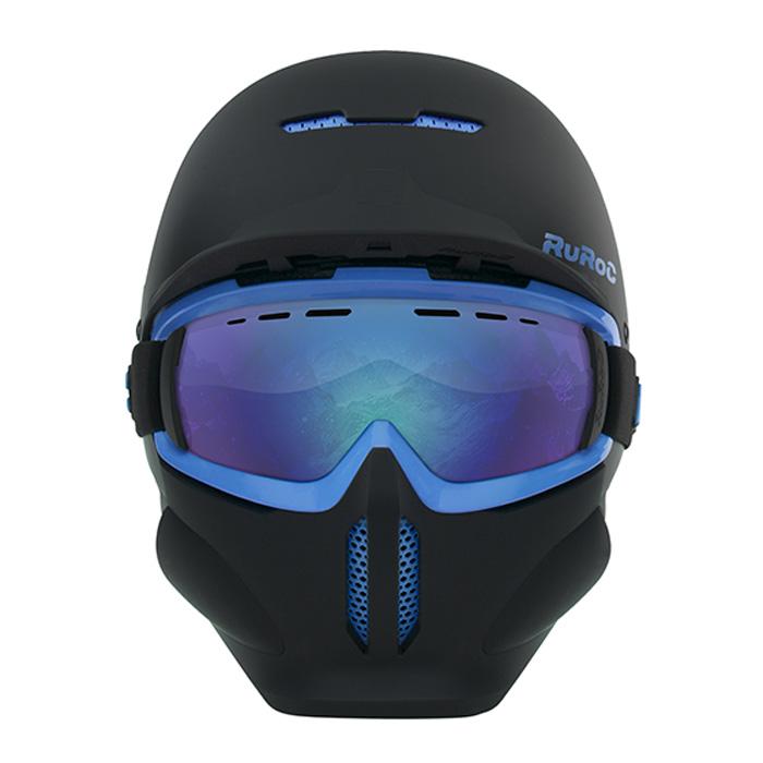 ruroc rg1x black ice snowboard helmet at salty peaks