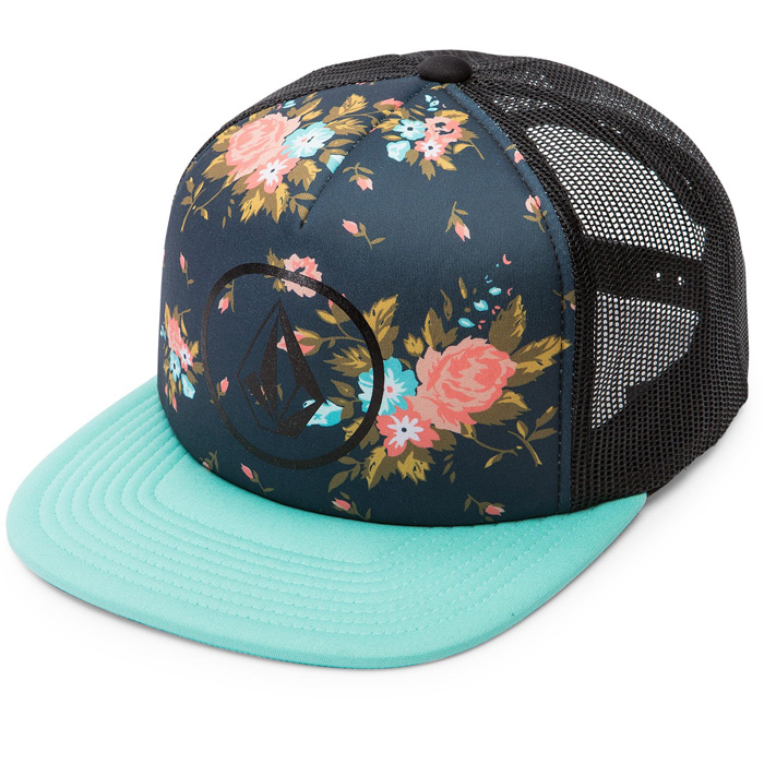 volcom talk trucker hat s at salty peaks