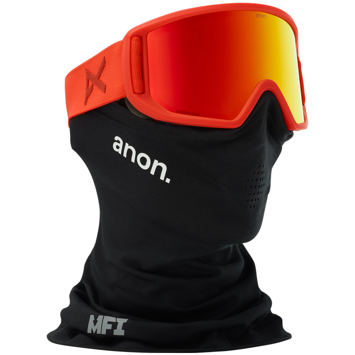 Anon Relapse Mfi Red Snowboard Goggles At Salty Peaks