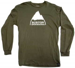 Burton Mountain Logo Long Sleeve Tee