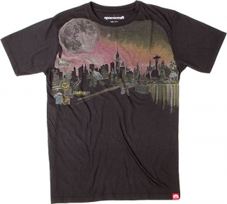 Spacecraft Skyline Moon Tee