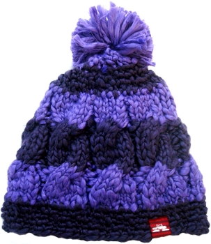 Spacecraft Snuffle Pom Stripe Beanie