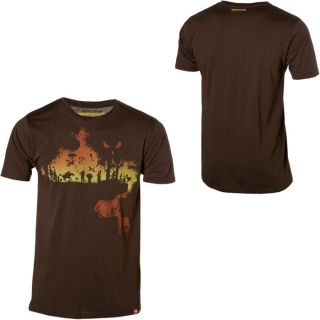Spacecraft Sunset Wood Tee