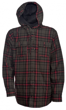 Nomis Men\'s Lumber Jack Hooded Flannel