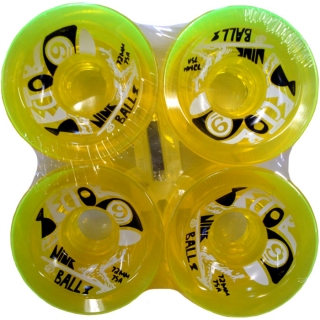 Sector 9 Nine Balls Longboard Wheels 78A 72mm Yellow