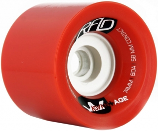 RAD Advantage Longboard Wheels 80A 74MM Red