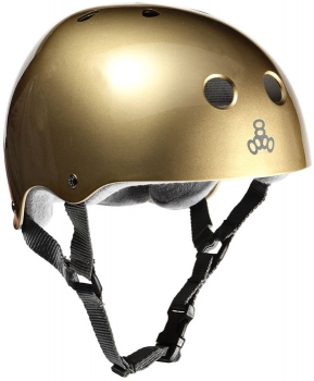 Triple Eight Brainsaver Gold Metallic Helmet