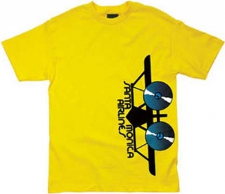 Santa Cruz Skateboard Re-Issue Santa Monica Airlines Side Logo Tee