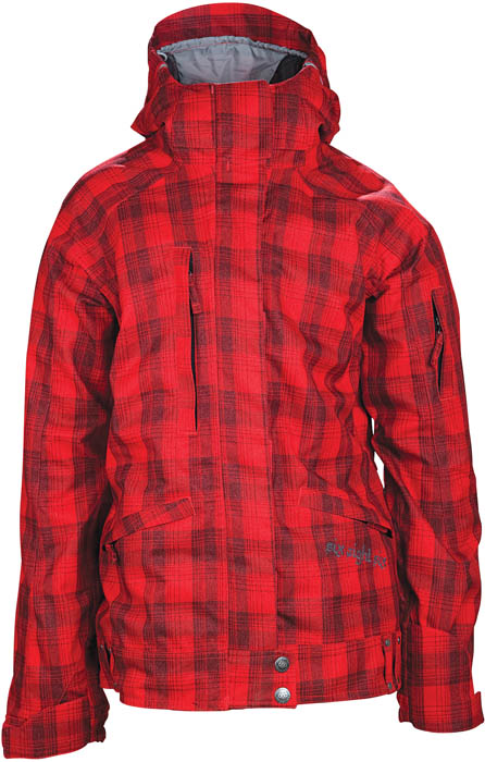 686 Womens Smarty Cadence Jacket Red Plaid