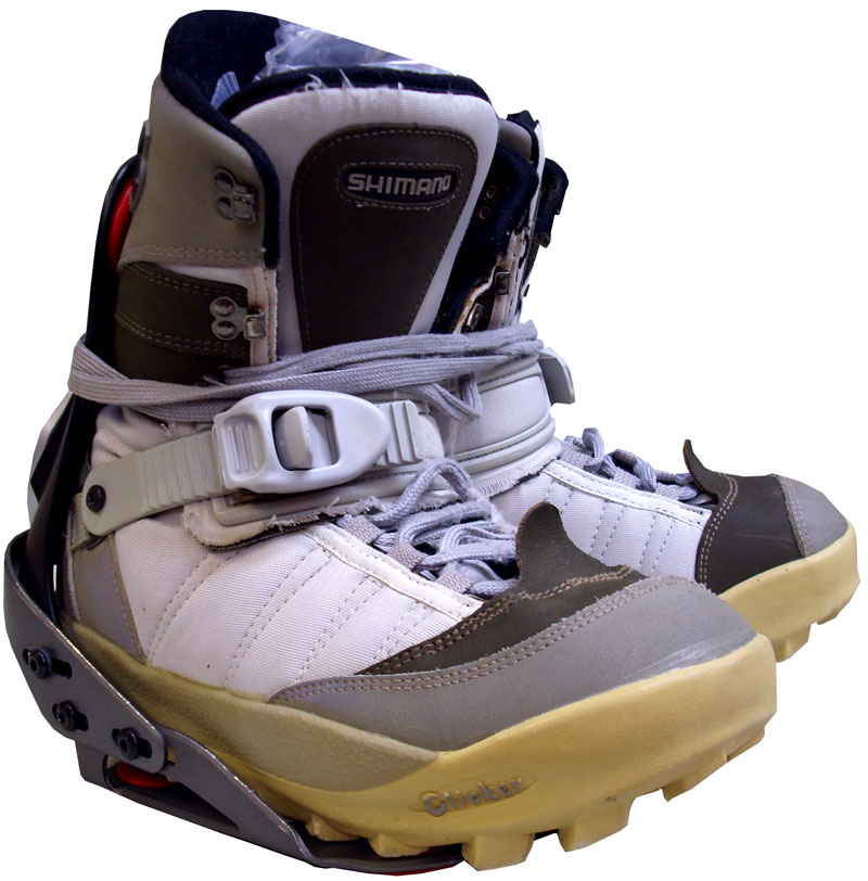 Bindings Size 12 Shimano Step in Boot Binding Combo Grey 109 Men 39 s Size 12