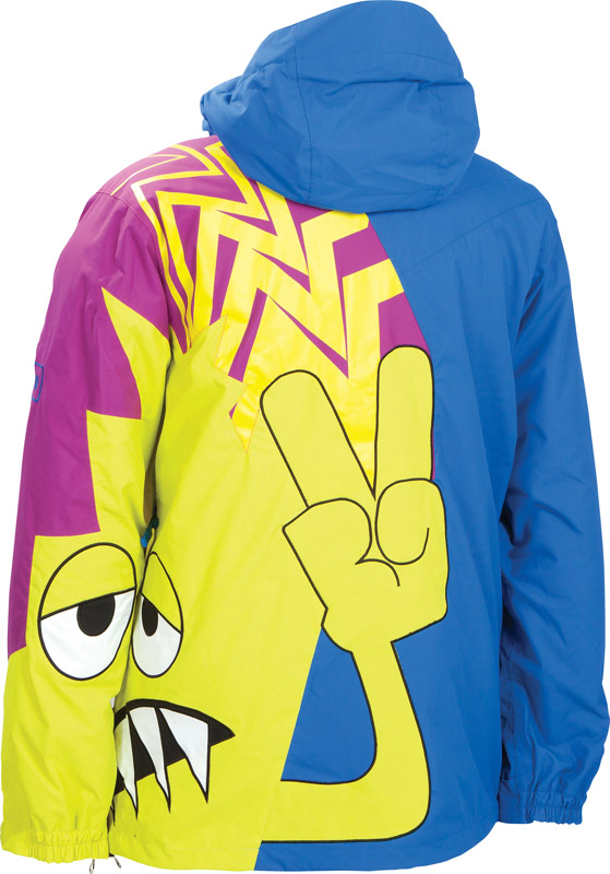 686 Snaggletooth Peace Insulated Snowboard Jacket At Salty Peaks