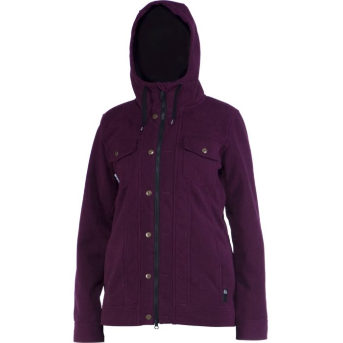 Ride Haller Bonded Fleece Womens Snowboard Jacket 2014 at Salty Peaks
