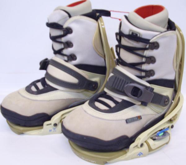 Burton Freestyle Step-In Snowboard Boot/Binding Combo [Tan