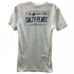 Salty Peaks Utah License Plate Tee