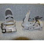 Pivot Snowboard Bindings 7pc Hardware Grey M/L