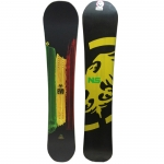 Never Summer Evo Snowboard - Limited Edition Rasta Graphic