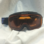 Scott Turbo Flow Snowboard Goggles Over Glasses Amber Lens