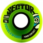 Sector 9 Double Wides Longboard Wheels 55mm 78a