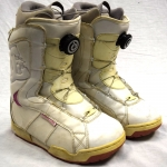 DC Emblem White Boa Snowboard Boots - Size 8