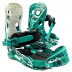 Rome SDS 390 Teal Snowboard Bindings - L/XL