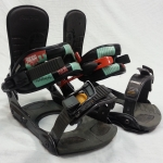 Ride Rodeo Snowboard Bindings - Large with used ride 4 hole discs