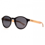 Cassette Traveler Black Zebrawood Sunglasses