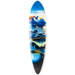 Landyachtz Bamboo Totem Narwhal Longboard Deck 41