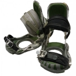 Technine Used Silver Green Snowboard Bindings