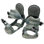 Ride Used VXN Snowboard Bindings Silver Size Medium