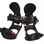 Bent Metal Demo The Missionary Snowboard Bindings - Black Grey Large