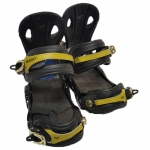 Roxy Demo Classic Women Snowboard Bindings - Black Gold Small Medium