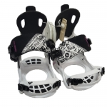 Roxy Demo Rock-It Dash Women Snowboard Bindings - White Black Medium Large