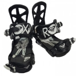 Roxy Demo Team Women Snowboard Bindings - Black Small Medium