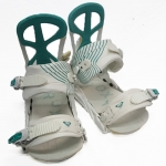 Roxy Demo Team Women Snowboard Bindings - White Teal Medium Large