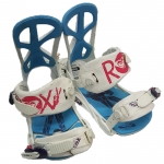 Roxy Demo Team Women Snowboard Bindings - White Blue Medium Large