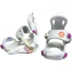 Gnu B-Real Rear Entry White Out Small Medium Women's Snowboard Bindings