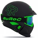 Ruroc RG1-DX Black Viper Asian Fit Snowboard Helmet