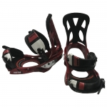 Burton Cartel with Toe Caps Red Large Snowboard Bindings