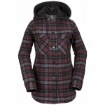 Volcom Hooded Flannel Snowboard Jacket - Women's