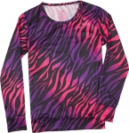 686 Women's Safari Base Layer Top [Black Zebra Print]
